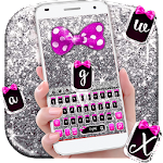 Glitter Bow Keyboard Theme Icon