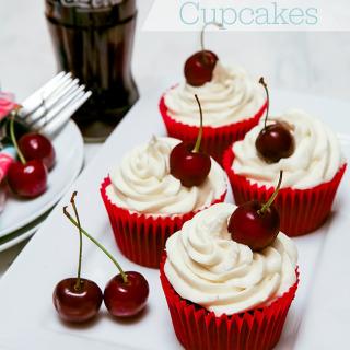 Cherry Coca-Cola (Coke) Cupcakes