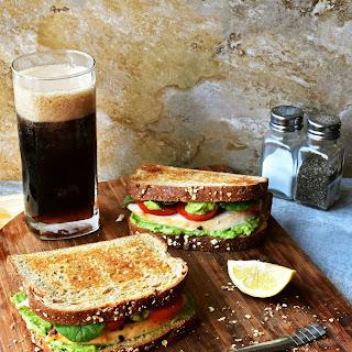 Roast Chicken Sandwich with Green Delight Sauce.