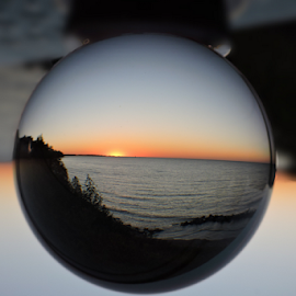 Crystal sunset by Melissa Davis - Artistic Objects Glass ( ball, crystal ball, sunset, glass, missyphotography )