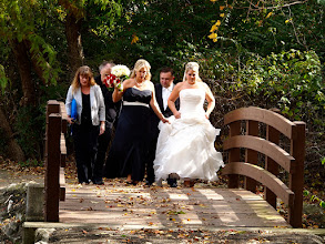 Photo: Bride And Bridge, Clague Park