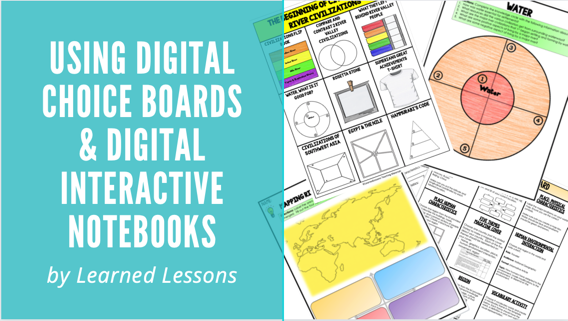 How to Use Choice Boards and Interactive Digital Notebooks with Secondary Students