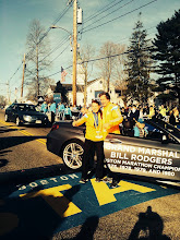 Photo: With Bill Rodgers on the start line