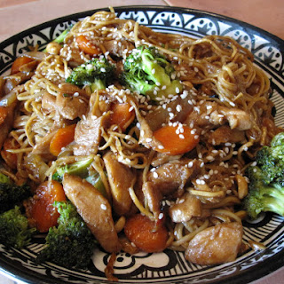 Chicken Stir Fry with Double Pan Fried Noodles