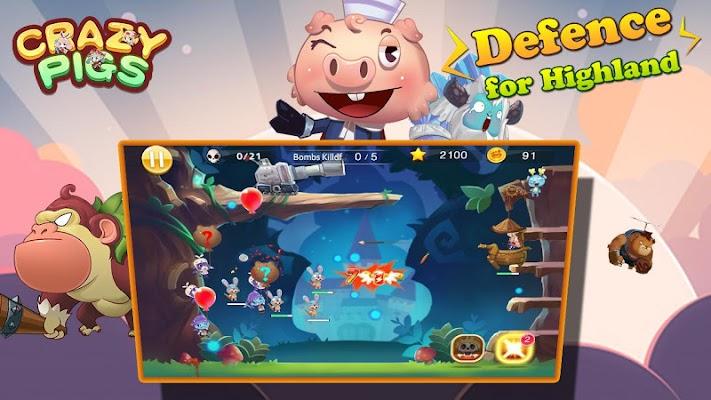 Crazy Pigs Defence - screenshot
