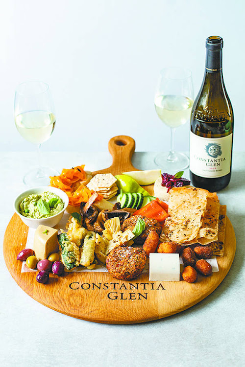 A vegan platter and Constantia Glen Sauvignon Blanc are some the treats on offer at Constantia Glen.