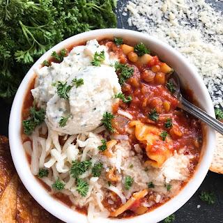 Vegetarian Lentil Lasagna Soup Recipe