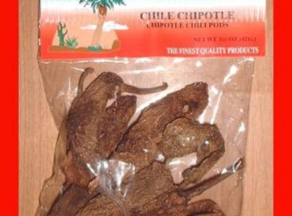 Cut one large dried chipotle in half and remove stalk. Preferably with a food...