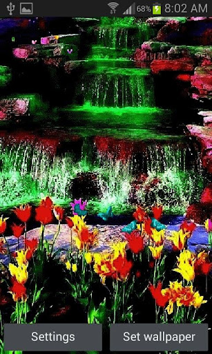 Multicolor Waterfall LWP