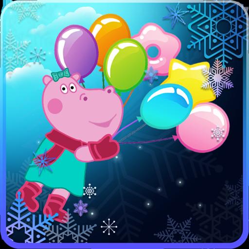 Pop Balloons: Winter games