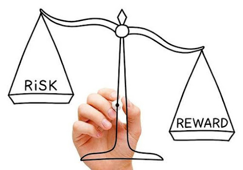Risk vs reward on scales