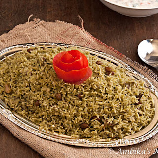 Coriander (Cilantro) Coconut Rice & Vegetable Raita