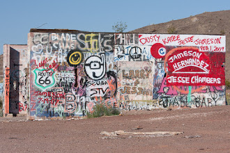 Photo: Graffiti along Route 66 near Amboy.  Blog post: http://activesole.blogspot.com/2015/05/route-66-in-mojave-desert.html