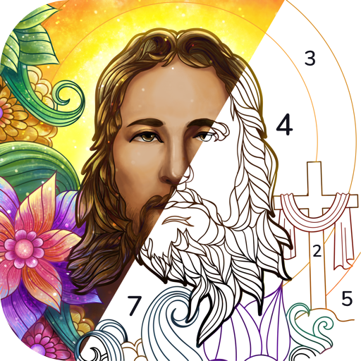 Bible Coloring  Paint by Number Free Bible Games