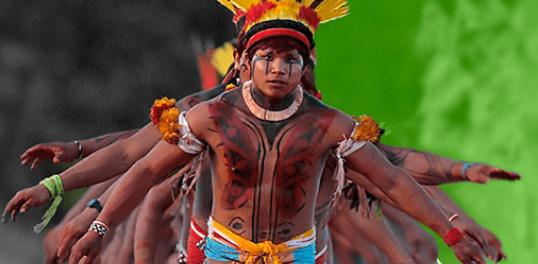 Danças rituais indígenas