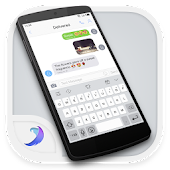 Emoji Keyboard- OS10 White