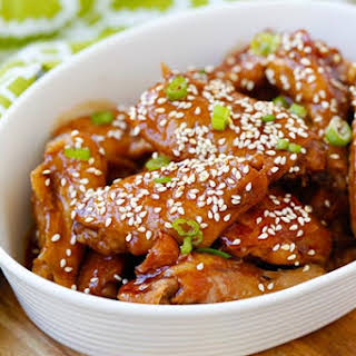 Slow Cooker Honey Sesame Chicken Wings.