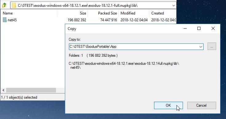 Extract net45 folder...