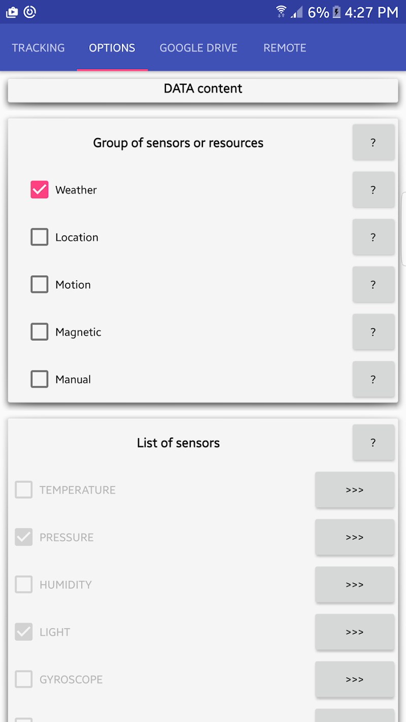 Скриншот Sensor Cloud Tracker