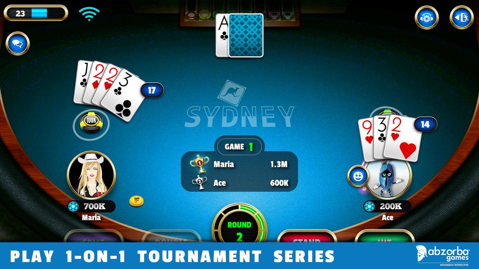 Blackjack table wallpaper - Blackjack 21 Screenshot