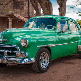 Beautiful Green Chevy by Griff Johnson - Transportation Automobiles ( sony, american car, chevrolet, american, green, rx100mkv, chevy, rx100mk5, classic, vinales, cuba )