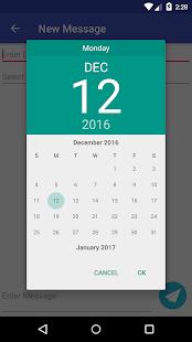 Message Scheduler - náhled