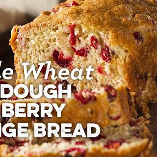Whole Wheat Sourdough Cranberry Orange Bread.