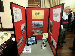 Photo: 010 The nearby Leighton Buzzard NG Railway, which has a number of members amongst the Beds & Bucks NGM team, also laid on a publicity stand .