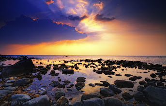 Photo: Welcome To My World  Good morning Googlers :)  This is the coast of a small island in North Wales called Shell Island, sometimes you just get lucky and a cloud will come along and pose for you, this was one of those times :)  Well I think I have just about managed to sort a lot of things out but it has been a very busy time, hence the lack of time I have spent on here. I apologies but I am so far behind its just silly and I don't think I will be able to play catch up so its case of just starting again :) But the good news is I can get to spam all you wonderful people again ;)