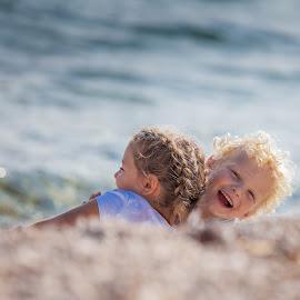 Childhood by Gregor Grega - Babies & Children Children Candids ( amazing, sister, love, blonde, free, happy, children, seascape, childhood, brother, smile,  )