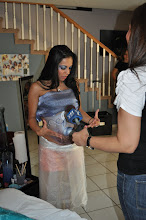 Photo: Telemundo 51 Interview for Pregnant Belly Art by Paola Gallardo from http://www.BestPartyPlanner.net