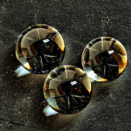 Three spheres by Gaylord Mink - Artistic Objects Still Life ( 3, still li, reflections, spheres )