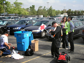 Photo: Setting up First Aid