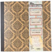 7 Gypsies Architextur Kraft Composition Book 12X12 - Damask UTGÅENDE