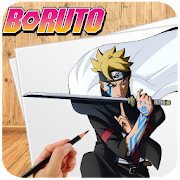 How to draw Boruto by +9000000 icon
