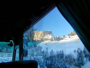 Photo: Dolomitenblick vom Bus aus auf der Rückfahrt