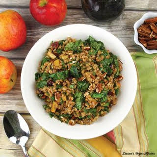 Farro Salad with Apples and Pecans.