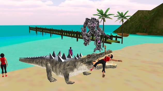 Robot Crocodile - Futuristic Robot Transformation apk screenshot