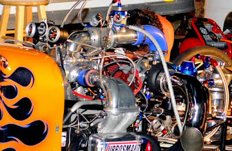 Photo: This is a turbocharged VW motor that sits in a T-model roadster. The crew for this car had major problems all weekend long, and I can't say for sure if they ever did get it running.