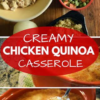 Easy Chicken & Vegetable Quinoa Casserole.