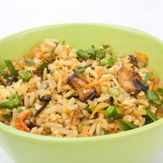 Healthy Fried Rice with Edamame, Veggies, and Tofu Recipe