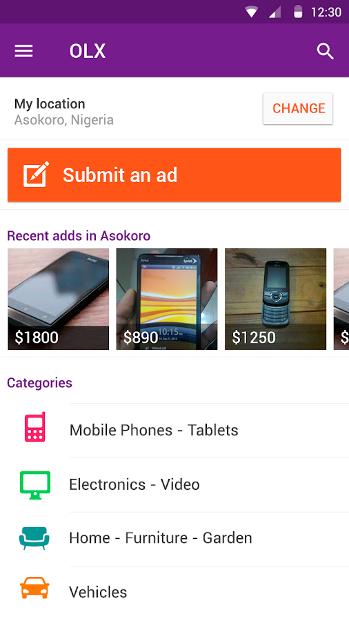 Screenshots of OLX Free Classifieds for Android
