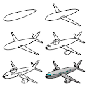 How To Draw Airplane icon