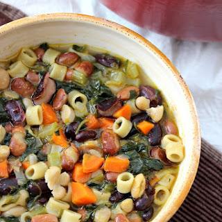 Vegan Three Bean Minestrone