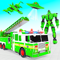 Fire Truck Robot Car Game icon