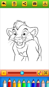 COLORING BOOK LION FAMILY MOD APK DOWNLOAD FREE HACKED VERSION 1