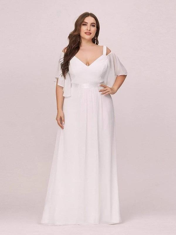 Off-Shoulder-Bridesmaid-Dress-Ruffle-Sleeves
