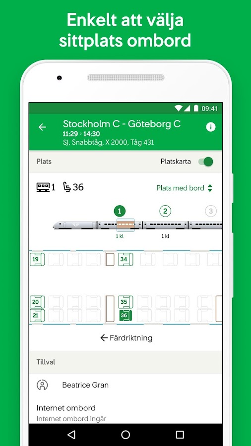 SJ – Swedish Railways- screenshot