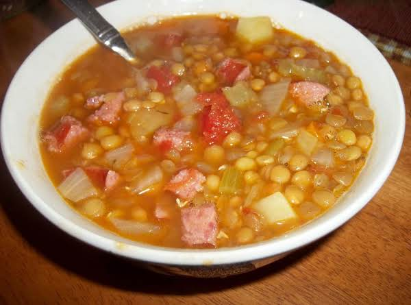 Lentil Soup W/sausage And Potatoes