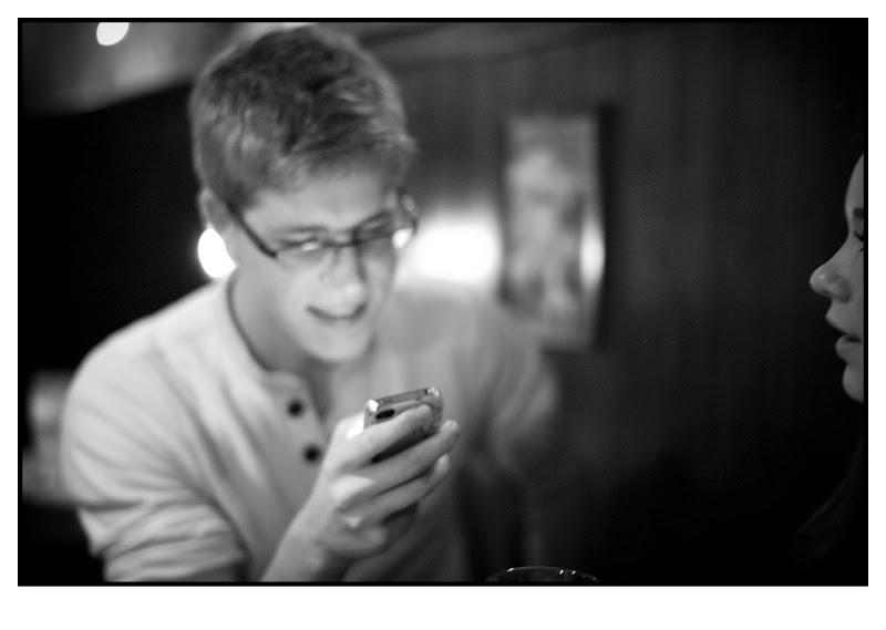 Photo: Modern social interaction. Paddy Murphy's, Rotterdam, 2012